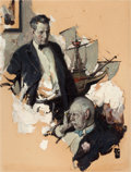 Paintings, DEAN CORNWELL (American, 1892-1960). Woe Is Me. Oil on board. 25.5 x 20 in.. Initialed lower right. From the Estate ...