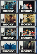 "Movie Posters:Academy Award Winners, Rocky (United Artists, 1977).CGC Graded Lobby Card Set of 8 (11"" X14"").. ... (Total: 8 Items)"