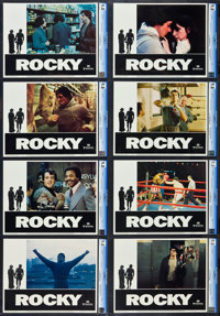 """Rocky (United Artists, 1977).CGC Graded Lobby Card Set of 8 (11"""" X 14""""). ... (Total: 8 Items)"""