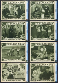 "The Black Coin (Stage and Screen Productions, 1936). CGC Graded Lobby Card Set of 8 (11"" X 14""). Chapter 4 --..."