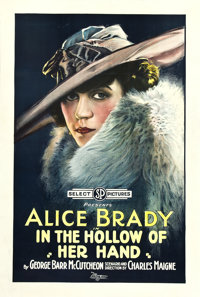"In the Hollow of Her Hand (Select, 1918). One Sheet (27"" X 41"")"