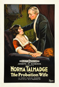 "Movie Posters:Drama, The Probation Wife (Select, 1919). One Sheet (27"" X 41"").. ..."