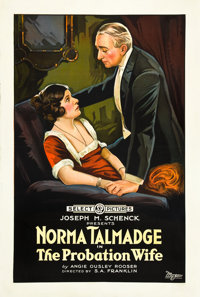 """The Probation Wife (Select, 1919). One Sheet (27"""" X 41"""")"""