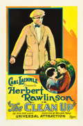 """Movie Posters:Comedy, The Clean Up (Universal, 1923). One Sheet (27"""" X 41"""").. ..."""