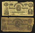 Confederate Notes:1863 Issues, Facsimile Confederate 1863 and 1864 C-Notes.. ... (Total: 2 notes)