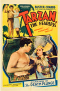 "Movie Posters:Serial, Tarzan the Fearless (Principal Distributing, 1933). One Sheet (27""X 41"") Chapter Ten -- ""The Death Plunge."". ..."