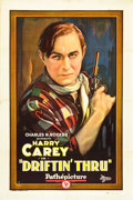"Movie Posters:Western, Driftin' Thru (Pathé, 1926). One Sheet (27"" X 41"") Style A.. ..."