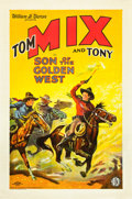 "Movie Posters:Western, The Son of the Golden West (FBO, 1928). One Sheet (27"" X 41"").. ..."