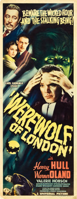 "Werewolf of London (Universal, 1935). Insert (14"" X 36"")"