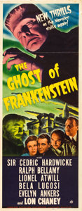 "Movie Posters:Horror, The Ghost of Frankenstein (Universal, 1942). Insert (14"" X 36"")....."