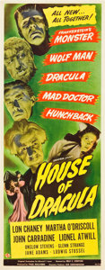 "Movie Posters:Horror, House of Dracula (Universal, 1945). Insert (14"" X 36"").. ..."