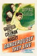"Movie Posters:War, Dangerously They Live (Warner Brothers, 1942). One Sheet (27"" X 41"").. ..."