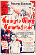 "Movie Posters:Black Films, Going to Glory, Come to Jesus (Toddy Pictures, 1946). One Sheet (27"" X 41"") and Herald (6"" X 9"").. ..."
