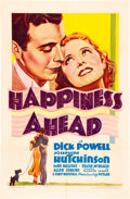 """Movie Posters:Musical, Happiness Ahead (Warner Brothers, 1934). One Sheet (27"""" X 41"""")....."""