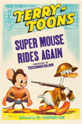 "Movie Posters:Animation, Super Mouse Rides Again (20th Century Fox, 1943). Stock One Sheet(27"" X 41"").. ..."