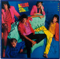 Music Memorabilia:Autographs and Signed Items, The Rolling Stones Band-Signed Dirty Work Album Cover....