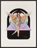 Music Memorabilia:Original Art, Stanley Mouse Signed Winged Girl Artist Proof....