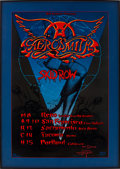Music Memorabilia:Posters, Aerosmith/Skid Row Tour Poster (Bill Graham, 1990)....