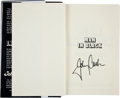 Music Memorabilia:Autographs and Signed Items, Johnny Cash Autographed Book....