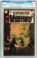 Silver Age (1956-1969):Horror, House of Mystery #183 Savannah pedigree (DC, 1969) CGC NM 9.4Off-white to white pages....
