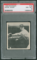 Baseball Cards:Singles (1940-1949), 1948 Bowman Eddie Joost #15 PSA NM-MT 8....