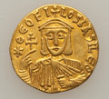 Ancients:Byzantine, Ancients: Theophilus (829-842). AV solidus (3.90 gm). ...