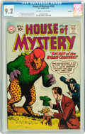 Silver Age (1956-1969):Mystery, House of Mystery #109 Savannah pedigree (DC, 1961) CGC NM- 9.2Off-white to white pages....