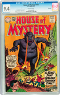 Silver Age (1956-1969):Horror, House of Mystery #110 Savannah pedigree (DC, 1961) CGC NM 9.4Off-white pages....