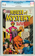 Silver Age (1956-1969):Horror, House of Mystery #119 Savannah pedigree (DC, 1962) CGC NM 9.4Off-white to white pages....