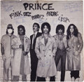 Music Memorabilia:Autographs and Signed Items, Prince Dirty Mind Band-Signed Album....