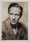 Movie/TV Memorabilia:Autographs and Signed Items, Leslie Howard Signed Photo....