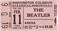 Music Memorabilia:Tickets, Beatles Washington Coliseum Ticket Stub, 1964....