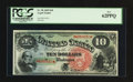 Large Size:Legal Tender Notes, Fr. 96 $10 1869 Legal Tender PCGS New 62PPQ.. ...