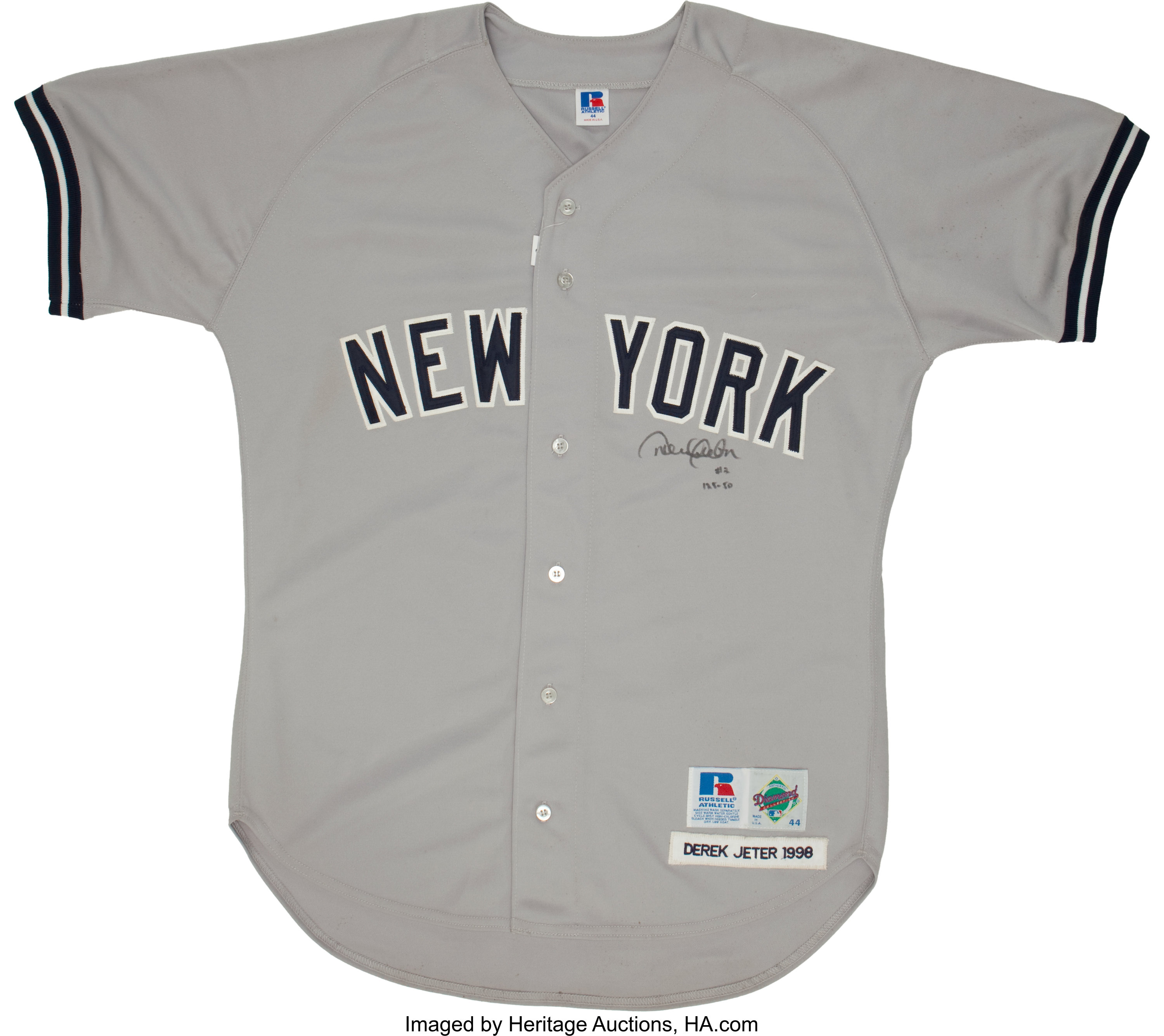new products 0b150 94c0e Derek Jeter Dual Signed Jersey.... Baseball Collectibles ...