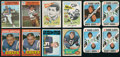 Football Cards:Lots, 1961 Nu-Card -1972 Topps Football Collection (79) With Sayers Rookie....