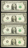 Error Notes:Mismatched Serial Numbers, Fr. 1903-F $1 1969 Federal Reserve Notes. Five Examples. Very Fine.. ... (Total: 5 notes)
