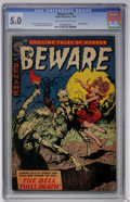 Golden Age (1938-1955):Horror, Beware #10 (Trojan/Prime, 1954) CGC VG/FN 5.0 Cream to off-whitepages....