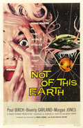 "Movie Posters:Science Fiction, Not of this Earth (Allied Artists, 1957). One Sheet (27"" X 41"").One of the scariest and most iconic of all 1950s sci-fi ima..."