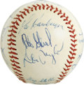 Autographs:Baseballs, 1975 Baltimore Orioles Team Signed Baseball. Earl Weaver's boysfinished 2nd in the AL East for the 1975 season, a dropoff ...