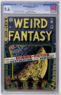 Golden Age (1938-1955):Science Fiction, Weird Fantasy #15 (#3) Gaines File pedigree (EC, 1950) CGC NM+ 9.6Off-white to white pages....