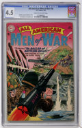 Golden Age (1938-1955):War, All-American Men of War #18 (DC, 1955) CGC VG+ 4.5 Cream tooff-white pages....