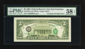 Error Notes:Third Printing on Reverse, Fr. 1978-L $5 1985 Federal Reserve Note. PMG Choice About Unc 58 EPQ.. ...