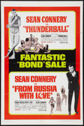 """Movie Posters:James Bond, From Russia with Love/Thunderball Combo (United Artists, R-1968).One Sheet (27"""" X 41""""). James Bond.. ..."""