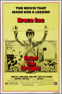 """Enter the Dragon (Warner Brothers, R-1973). One Sheet (27"""" X 41""""). Action"""