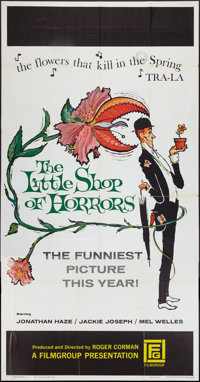 """The Little Shop of Horrors (Film Group, 1960). Three Sheet (41"""" X 81""""). Comedy"""