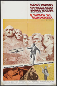 "North by Northwest (MGM, R-1966). One Sheet (27"" X 41""). Hitchcock"