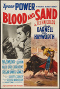 """Movie Posters:Drama, Blood and Sand (20th Century Fox, 1941). One Sheet (27"""" X 41"""") Style A. Drama.. ..."""