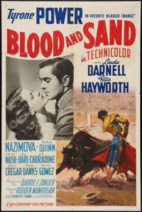 """Blood and Sand (20th Century Fox, 1941). One Sheet (27"""" X 41"""") Style A. Drama"""