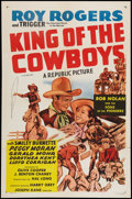 "Movie Posters:Western, King of the Cowboys (Republic, R-1955). One Sheet (27"" X 41""). Western.. ..."
