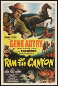 "Movie Posters:Western, Rim of the Canyon (Columbia, 1949). One Sheet (27"" X 41""). Western.. ..."